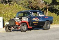 More vintage cars hot rods and kustoms 1955 Chevy, 1955 Chevrolet, Vintage Racing, Vintage Cars, Chevy Muscle Cars, Old Race Cars, Drag Cars, American Muscle Cars, Car Humor