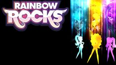 Rainbow Rocks: The Dazzlings Cover (Background) by WrightGerman on deviantART