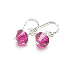 £15 TheseMirabella crystal earrings are perfect for the House of Colour winter palette, hung from sterling silver ear hooks and shown here with fuchsia  pink, then jet blackcrystals.  Any colour from the winterSwarovski crystal palette (see below)can be  chosen for these earrings; simply choose from the list displayed when when  you 'Add to cart'.  'Mirabella' means 'Of incredible beauty'; a very fitting name to add the  final sparkling touch to your outfit!  Please note that the style…