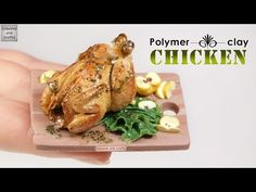 Polymer Clay - grilled chicken! (polymer clay Chicken) - YouTube