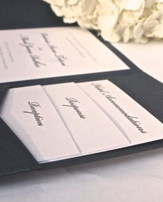 Pocket Fold Wedding Invitation - Classic, elegant, wedding, traditional, modern on Etsy, $3.50