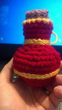 Crochet Potion Bottle Dice Bag