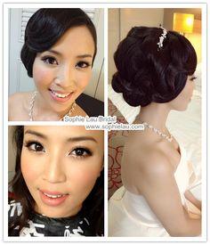 Sophie Lau Makeup and Hair: Wedding Photos Arrg skip the dark black eyeliner