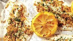 Essayez cette recette facile de sole grillée en croûte de Dijon au citron