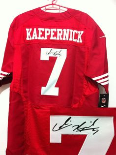 NFL San Francisco 49ers 7  Colin Kaepernick Red Autographed Jersey Nfl 49ers 7826d90e6
