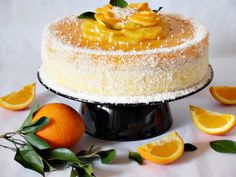 Fancy Orange Cake Step-by-Step Photo Recipe - Mamas Club Romanian Food, Amazing Cakes, Vanilla Cake, Panna Cotta, Bacon, Food And Drink, Favorite Recipes, Sweets, Cooking
