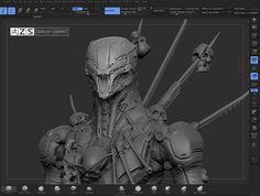 Apocalyptic Mech for ZBrush Summit Sculpt - Off