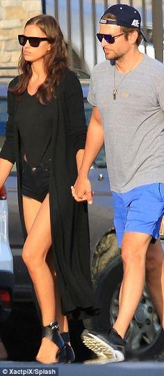 Bradley Cooper shares a passionate kiss with girlfriend Irina Shayk #dailymail