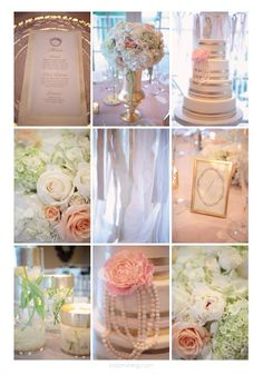Pink and Gold Wedding Reception | reception, pink, gold, beauty, pearls, details, wedding ... | Wedding