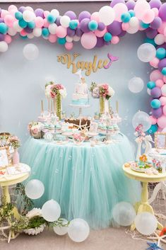 Fishing for a party as cute as can be? Kara's Party Ideas presents an Under the Sea Mermaid Birthday Party that does the job! Mermaid Theme Birthday, Unicorn Birthday Parties, Unicorn Party, Birthday Party Decorations, Girl Birthday, Birthday Ideas, Fete Halloween, Little Mermaid Parties, Shower Party