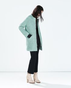 ZARA - WOMAN - ZIPPED BOUCLÉ COAT