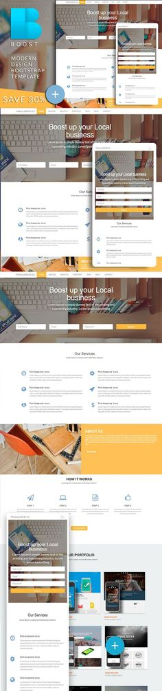 BOOST Bootstrap html template. Bootstrap Themes. $15.00