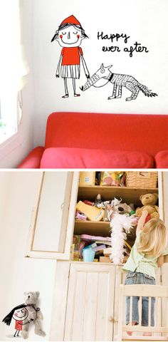 Studio ToutPetit: Wee Walls Wednesdays * wall decals for though little girls