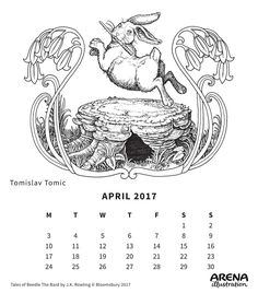 Tales of Beedle The Bard by J. Rowling, interior illustrations by Tomislav Tomic Calendar 2017, Illustrators, Memes, Rabbits, Image, Interior, Art, Art Background, Indoor