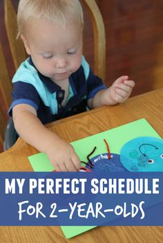 Toddler Approved!: My Perfect Schedule for 2-Year-Olds  Check this out!!! Kikoy would love it! Great place to start for me