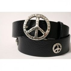 Peace Concho Belt from Cellar Leather