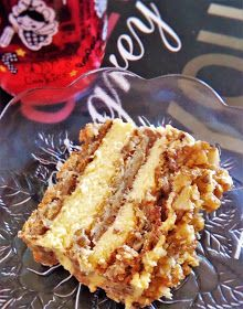 Retete a la Miki: Prajitura cu nuci caramelizate Romanian Desserts, Romanian Food, Romanian Recipes, Pastry Recipes, Cake Recipes, Food Cakes, Something Sweet, Appetizers For Party, Cheesesteak