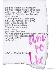 Typewriter Series #1716 by Tyler Knott Gregson