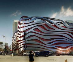 Futuristic Architecture, Petersen Automotive Museum by Kohn Pedersen Fox Associates