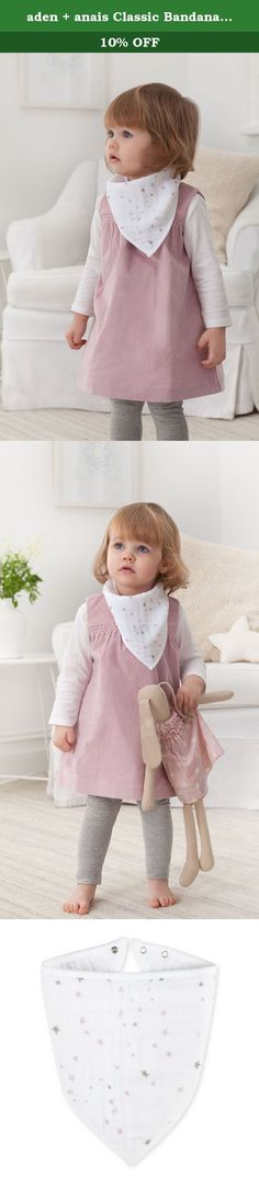 aden + anais Classic Bandana Bib, Lovely. Made of 100% cotton muslin, the signature prints and extra absorbent fabric keeps baby fashionable and clean - making these bibs a must-have accessory.