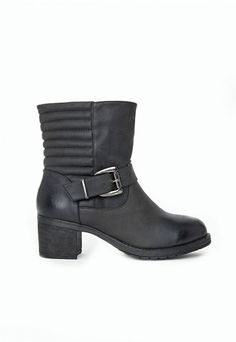 Kalisa Buckle Detail Biker Ankle Boots - Shoes - Missguided