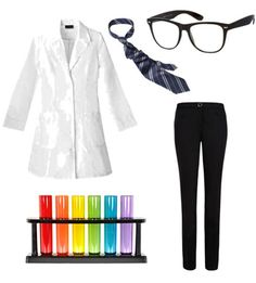 DIY Mad Scientist Costume - maybe use swim goggles instead of glasses?