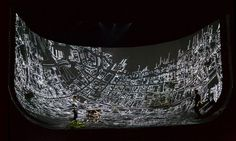 #YoungBirdNewsEs Devlin creates bowl-shaped set as backdrop for virtual reality-themed play British set designer Es Devlin has used a basin-shaped map as the canvas for video projections for a play at London's National Theatre, which follows an injured soldierundergoing virtual-reality therapy.
