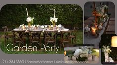 This backyard party was lovely with classic white and green flowers. We incorporated antlers and birchwood for added texture.
