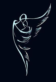 A guardian angel is an angel that is assigned to protect and guide a particular person, group, kingdom, or country. Belief in guardian angels can be traced thro Pencil Art Drawings, Art Sketches, Drawing Faces, Guardian Angel Tattoo, Neck Tatto, Tatoo Henna, Angel Drawing, Angel Art, Rock Art