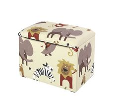 Kids Toy Box by Just 4 Kidz - Funky Childrens Toy Box Available in Many Washable Fabrics - Bedroom Furniture - Ottomans & Blanket Boxes