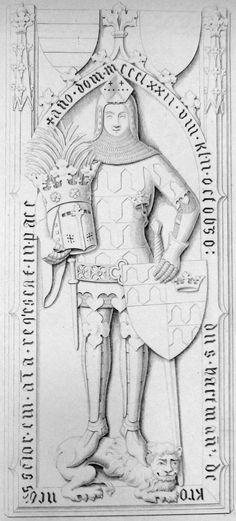 Effigies and Brasses: Hartmann von Kroneberg (1372)