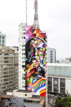 A city of color — Artist Eduardo Kobra marks Sao Paulo with Oscar Niemeyer
