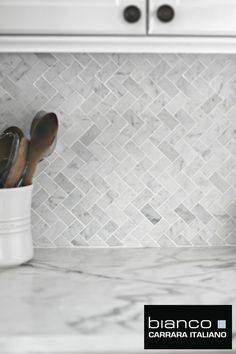 "Free Shipping Italian Marble Herringbone for $11.75 a Square foot. This has been really used well for a backsplash. These little 1x2"" pieces look as good on the bathroom floor as they do in the kitchen."