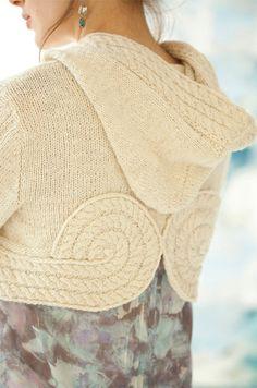 Cropped Hoodie Shiri Vogue 2013 #knit.  Interesting pattern.