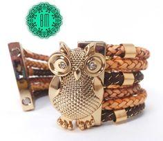 Compre aqui: http://www.elo7.com.br/bracelete-coruja-luxo/dp/2E5FCF