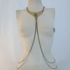 Trinity  Harness Body Chain Necklace by LoveChrissa on Etsy, $79.00