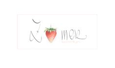 summer, zomer, strawberry, aardbei, tekenen, pastel, drawing