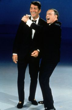 Dean Martin & Frank Sinatra - during a Dean's show taping - photo undated. -  UPLOAD by: Michel Reno