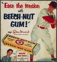 Stan Musial Beech-Nut Gum ad
