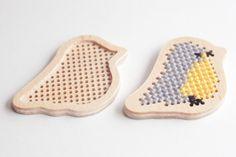 Cross stitch blanks  in bird shape /  plywood by TinyLizardGifts, $7.00