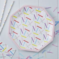 Loving the colourful sprinkles on these paper plates! Perfect for serving up the birthday cake! - Pick and Mix at GingerRay.co.uk