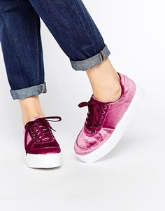 Zapatillas de deporte con plataforma plana DAYSLEEPER de ASOS