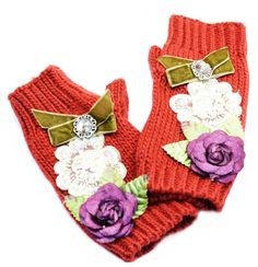 "Manusi ""Folkloric Russian style"" - Meli Melo - Paris- Anna Karenina cut off gloves"