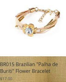 "Beautiful Brazilian bracelet, make of ""Palha de Buriti"" Silk Straw and metal gold plated, adjustable. www.bellabrazilianaccessories.com"