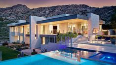 In Plane Sight, encapsulates — by a horizontal bridge-like architectural form — 180 degree views of Paradise Valley, iconic Camelback Mountain, the city of Phoenix, and its surrounding mountain ranges. Indoor Outdoor Living, Outdoor Spaces, Arizona, Entry Doors With Glass, House Deck, Layout, House Blueprints, Design Competitions, Beautiful Architecture