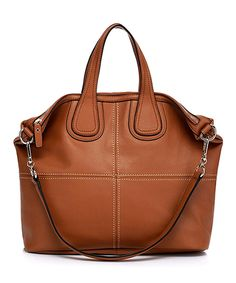 Look what I found on #zulily! Foley & Agamo Brown Amanda Leather Tote by Foley & Agamo #zulilyfinds
