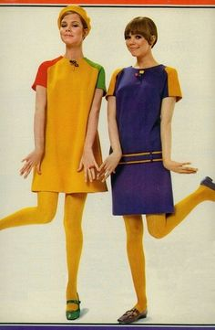 Colourful mod fashions, 1960s.