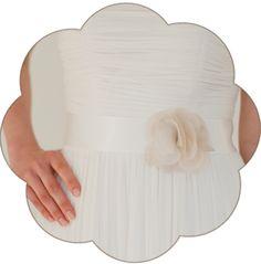 Braut Gürtel mit Seiden Blüte ivory beige. 24 Farben. Wedding Belts, Sashes, Ribbons- Bridal Accessories