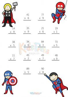 Math Worksheets 2 Digit by 2 Digit Multiplication Math For Kids, Fun Math, Math Math, Math Fractions, Math Games, Free Multiplication Worksheets, Multiplication Strategies, Kumon, Abacus Math