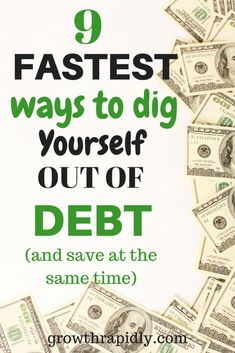 pay off debt, how to get out of debt, how to get rid of debt, dig yourself out of debt. #debtfree